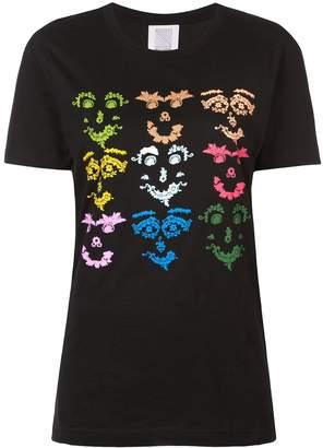 Rosie Assoulin multicoloured face print T-shirt