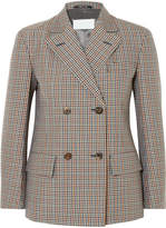 Maison Margiela Checked Wool, Mohair And Silk-blend Blazer - Brown
