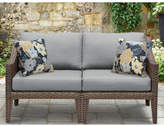 TK Classics Manhattan Outdoor Wicker Loveseat with Cushions