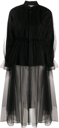 Comme des Garcons Sheer Hem Shirt Dress