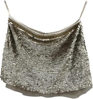 Elisabetta Franchi Gold Glitter Skirt for Women