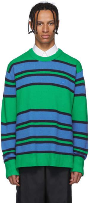 Acne Studios Green Striped Nimah Sweater