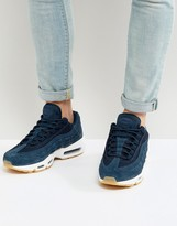 Nike Air Max 95 Premium Trainers In Navy 538416-402
