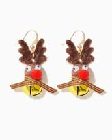 Charming charlie Cheery Bell Reindeer Earrings