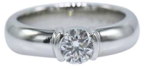 Tiffany & Co. 950 Platinum 0.56ct. Diamond Engagement Ring Size 5.75