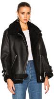 Acne Studios Velocite Leather Jacket in Black.