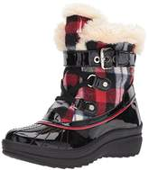 AK Anne Klein Sport Women's Gallup Fabric Snow Shoe,6 M US