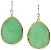 Fossil Stone Teardrop Earrings - Green