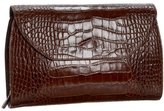 Jesselli Couture Croc-Embossed Envelope Clutch