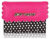 Betsey Johnson Double Top Scallop Clutch French Wallet