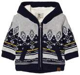 Timberland Grey Cotton Fairisle Knit Teddy Lined Hoody