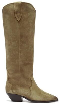Isabel Marant Denvee Suede Knee-high Boots - Beige