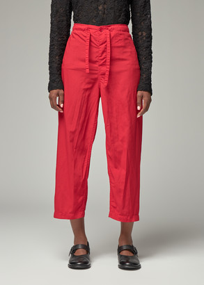 Comme des Garcons Women's Red Pockletess Drawstring Pant Size 2 100% Polyester