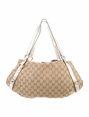 Gucci GG Canvas Medium Abbey Shoulder Bag Beige