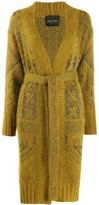 Roberto Collina Belted Embroidered Cardigan