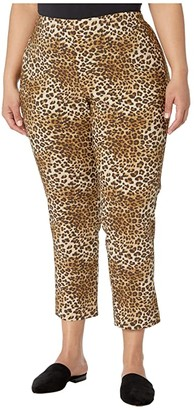 Karen Kane Plus Plus Size Piper Pants (Leopard) Women's Casual Pants