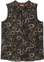 Joe Fresh Women's Print V-Neck Tank, Black (Size XS)