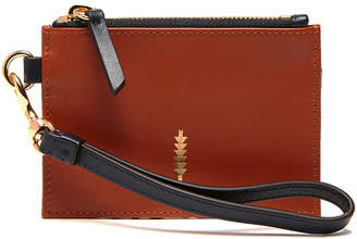 Thacker Ny Thacker NY Women's Clutches Rust/Natural - Rust & Natural Python Amber Leather Small Wristlet