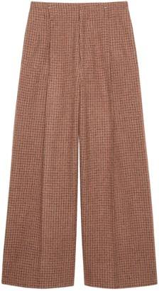 Gucci Houndstooth wool wide-leg pant