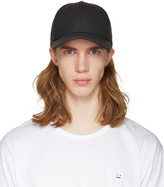 Rag & Bone Black Leather Baseball Cap