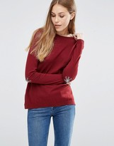 Asos Sweater with Holidays Snowflake Elbow Patch