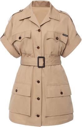 Dolce & Gabbana Belted Cotton-Gabardine Mini Dress