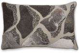 Aura Pebble Hair on Hide Oblong Throw Pillow in Natural