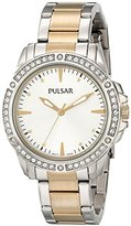 Pulsar Women's PH8093 Night Out Analog Display Japanese Quartz Silver Watch
