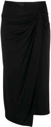 Pinko Draped Midi Skirt