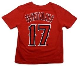 Nike Los Angeles Angels Shohei Ohtani Toddler Name and Number Player T-Shirt