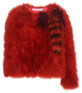 Givenchy Feather And Fur Jacket