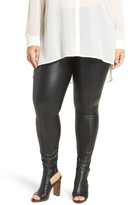Lysse Plus Size Women's High Waist Faux Leather Leggings