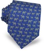 Laura Biagiotti Elephants Print Silk Tie