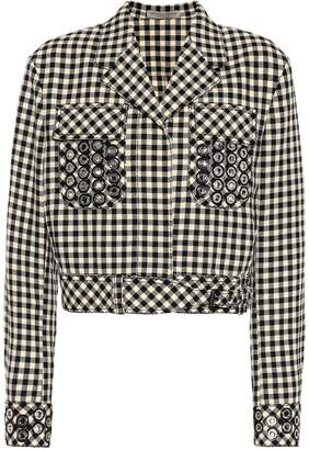Bottega Veneta Checked cotton and wool blazer