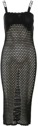 Off-White Crochet Slip Dress