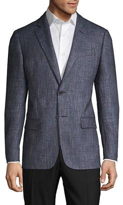 Armani Collezioni Textured Virgin Wool-Blend Blazer