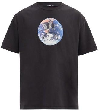 Ksubi Earth-print Cotton-jersey T-shirt - Black