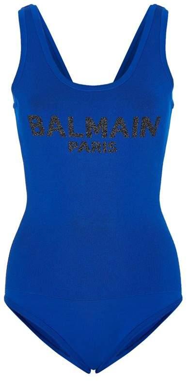 Balmain Mesh Logo Bodysuit
