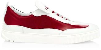Salvatore Ferragamo Aaron Gancini Two-Tone Leather Sneakers