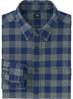 Uniqlo Men Flannel Buffalo Check Long Sleeve Shirt