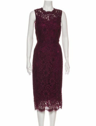 Dolce & Gabbana Lace Pattern Midi Length Dress