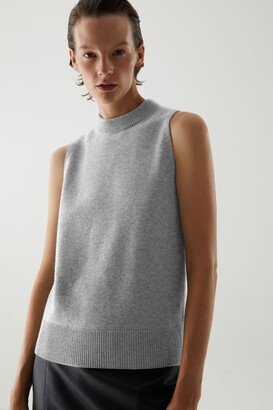 Cos Cashmere Plain Knit Vest