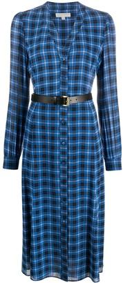MICHAEL Michael Kors Checked Print Midi Dress