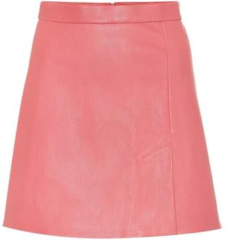 STOULS Santa leather miniskirt