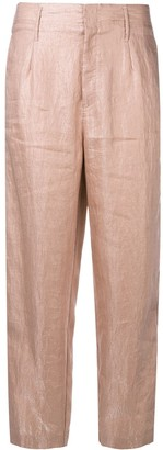 Forte Forte Creased Cropped Trousers