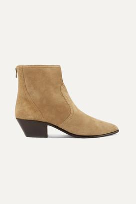 Loeffler Randall Joni Suede Ankle Boots - Beige