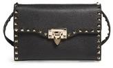 Valentino Medium Rockstud Leather Messenger Bag - Black