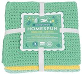 Now Designs Homespun Crocheted Dishcloths, Set of Three, Spring Meadow
