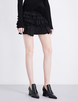 Givenchy Ruffle-tiered mid-rise cotton mini skirt