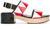 Marni zigzag slingback sandals